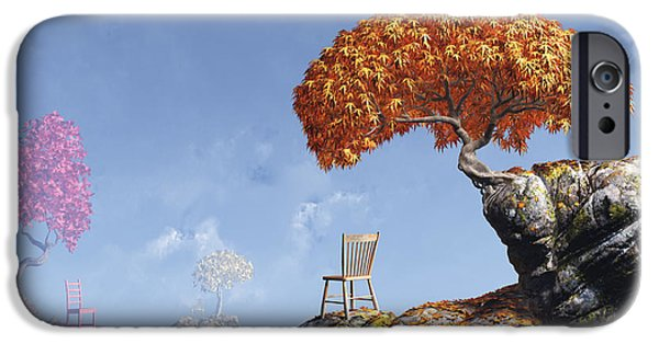 Chair Digital iPhone Cases - Leaf Peepers iPhone Case by Cynthia Decker
