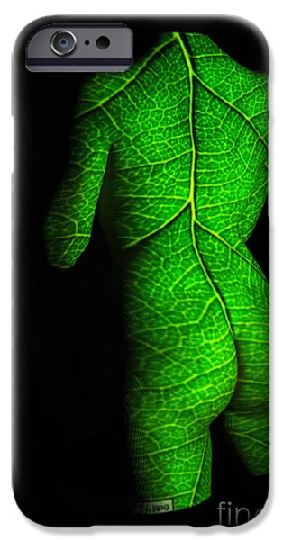 Michael Mixed Media iPhone Cases - Leafy Nude iPhone Case by M and L Creations