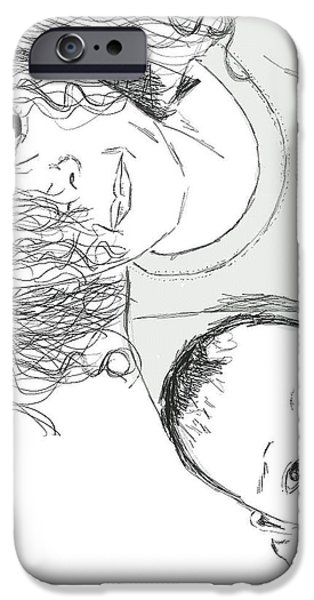 Michelle Drawings iPhone Cases - Leah Kylee Back White iPhone Case by Michelle teague Smith