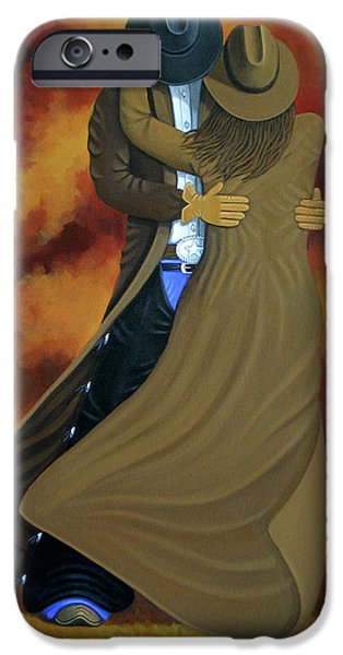 Painter iPhone Cases - Lean On Me iPhone Case by Lance Headlee