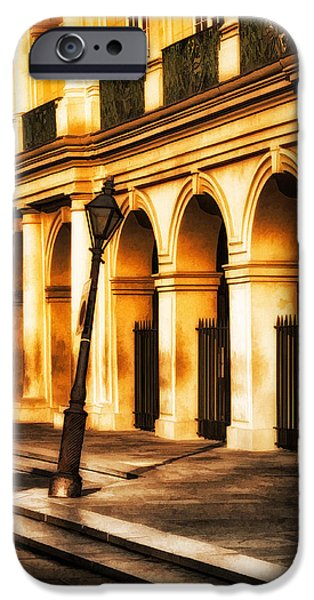 Hattiesburg iPhone Cases - Leaning Lamp Post iPhone Case by Brenda Bryant