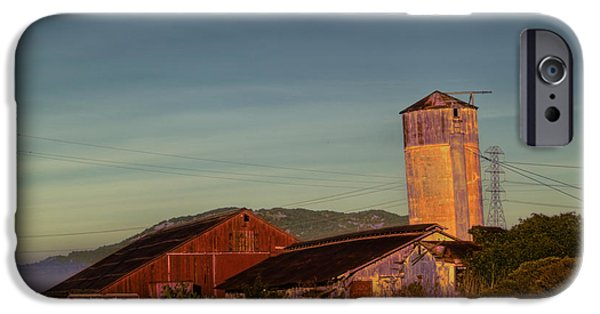 Bill Gallagher iPhone Cases - Leaning Silo  iPhone Case by Bill Gallagher