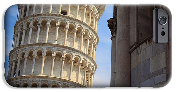 Christianity iPhone Cases - Leaning Tower iPhone Case by Inge Johnsson