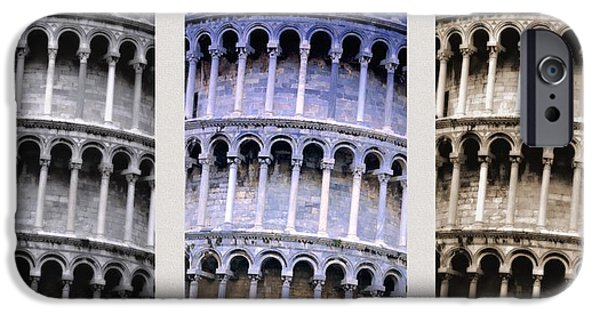 Tallest Columns World iPhone Cases - Leaning Tower Of Pisa iPhone Case by Carson Ganci