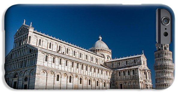 The Baptistry iPhone Cases - Leaning Tower of Pisa Italy iPhone Case by Suntaree Pham