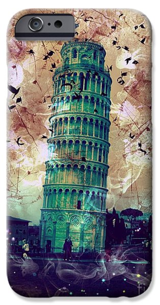 Epic iPhone Cases - Leaning Tower of Pisa 1 iPhone Case by Marina McLain
