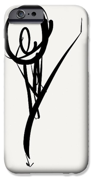 Gestures Drawings iPhone Cases - Leap iPhone Case by Kevin Houchin