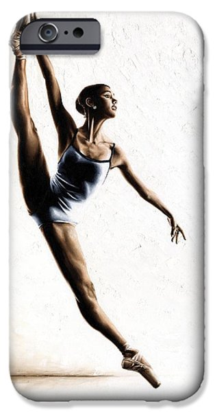 Best Sellers -  - Ballet Dancers iPhone Cases - Leap of Faith iPhone Case by Richard Young