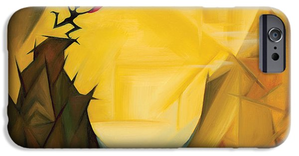 Abstract Expressionist iPhone Cases - Leap Of Faith iPhone Case by Tiffany Davis-Rustam