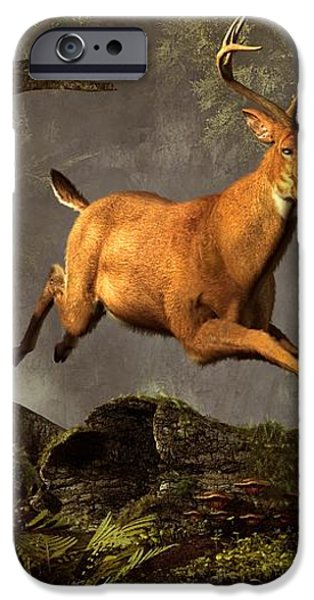 Leaping Stag iPhone Case by Daniel Eskridge