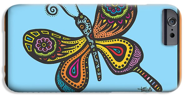Pen And Ink iPhone Cases - Learning to Fly iPhone Case by Tanielle Childers