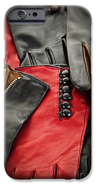 Leather gloves iPhone Case by Elena Elisseeva