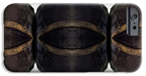 Worn Leather iPhone Cases - Leather Heads  iPhone Case by Steven  Digman