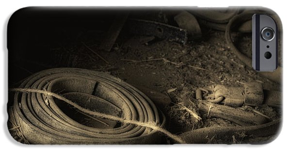 Straps iPhone Cases - Leather Strap Still Life iPhone Case by Tom Mc Nemar