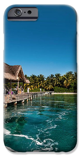 Leaving Kuramathi Resort. Maldives iPhone Case by Jenny Rainbow