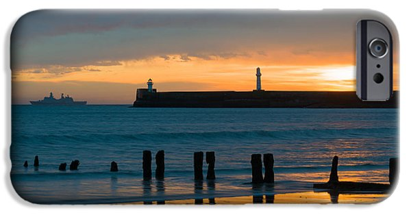 North Sea iPhone Cases - Leaving Port iPhone Case by Dave Bowman