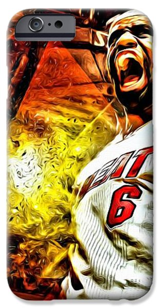 LeBron James Art Poster iPhone Case by Florian Rodarte