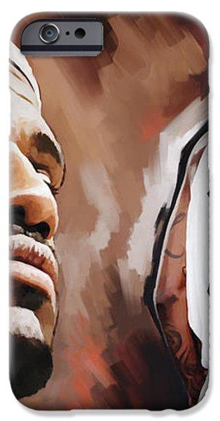 LeBron James Artwork 2 iPhone Case by Sheraz A