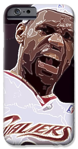 Allstar iPhone Cases - LeBron James iPhone Case by Dalon Ryan