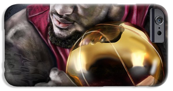 Lebron iPhone Cases - LeBron James - My Way iPhone Case by Reggie Duffie
