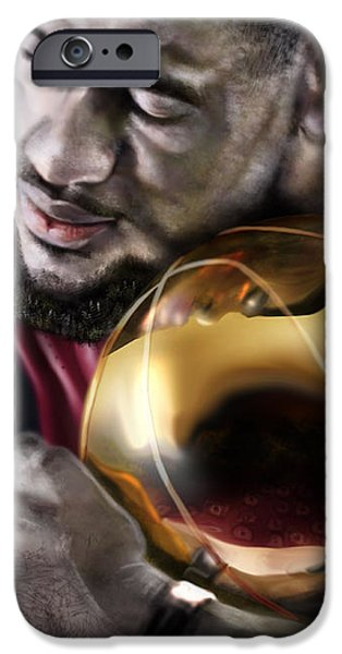 LeBron James - My Way iPhone Case by Reggie Duffie