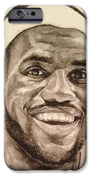 Lebron James iPhone Case by Tamir Barkan