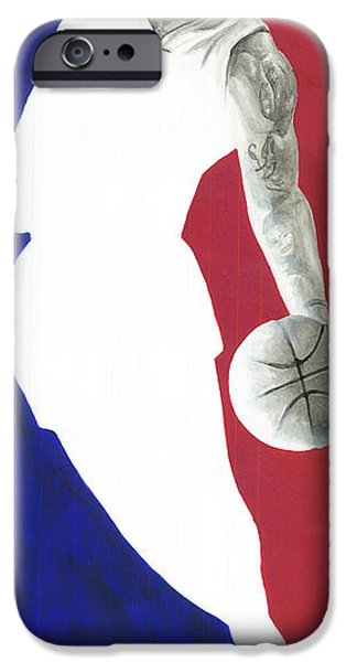 Lebron NBA Logo iPhone Case by Tamir Barkan