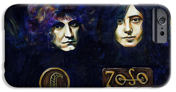 Robert Plant Paintings iPhone Cases - Led Zeppelin iPhone Case by Charles  Bickel