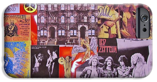 Autographed Photographs iPhone Cases - Led Zeppelin  Collage Number Two iPhone Case by Donna Wilson