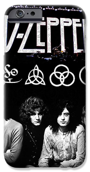 Phone iPhone Cases - Led Zeppelin iPhone Case by FHT Designs