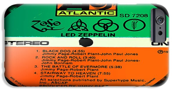 Recently Sold -  - Black Dog iPhone Cases - Led Zeppelin IV Side 1 iPhone Case by Marcello Cicchini