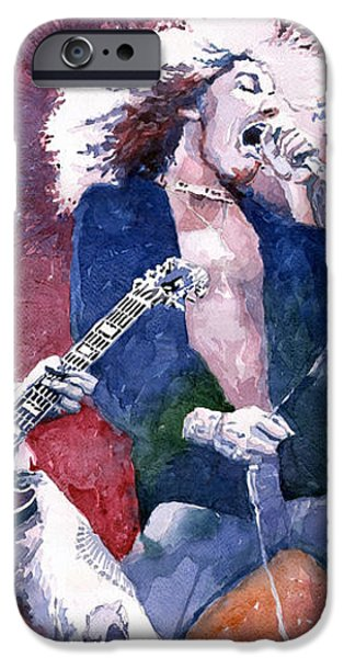 Led Zeppelin Jimmi Page and Robert Plant  iPhone Case by Yuriy  Shevchuk