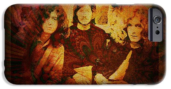 Robert Plant iPhone Cases - Led Zeppelin - Kashmir iPhone Case by Absinthe Art By Michelle LeAnn Scott