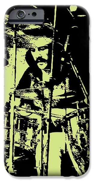 Famous Artist iPhone Cases - Led Zeppelin No.05 iPhone Case by Caio Caldas