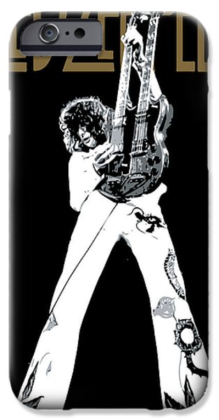 Famous Artist iPhone Cases - Led Zeppelin No.06 iPhone Case by Caio Caldas