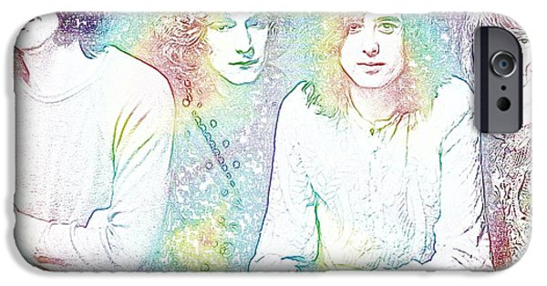 Revolution Mixed Media iPhone Cases - Led Zeppelin Tie Dye iPhone Case by Dan Sproul
