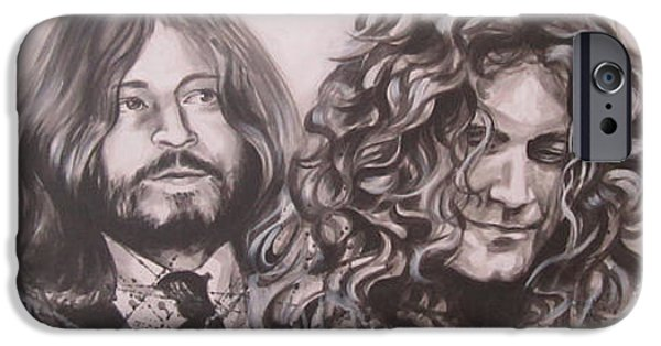 Robert Plant Paintings iPhone Cases - Led Zepplin iPhone Case by Bruce McLachlan
