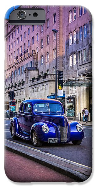 Asymmetrical iPhone Cases - Leeds City Hot Rod iPhone Case by Vlad Dimov