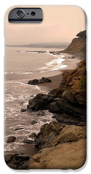 Coast Highway One iPhone Cases - Leffingwell Landing Cambria iPhone Case by Barbara Snyder