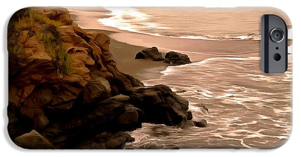 Coast Highway One iPhone Cases - Leffingwell Landing Cambria Detail 2 iPhone Case by Barbara Snyder