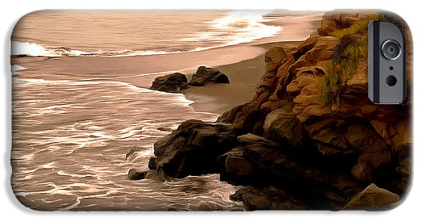 Coast Highway One iPhone Cases - Leffingwell Landing Cambria Detail iPhone Case by Barbara Snyder