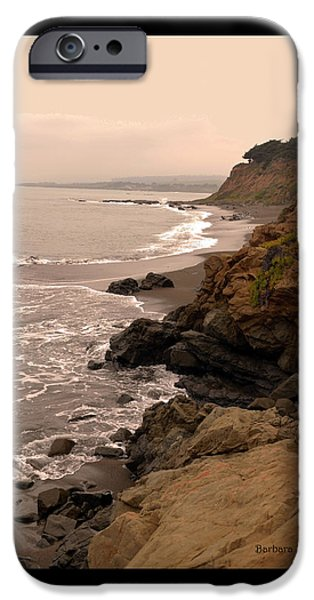 Coast Highway One iPhone Cases - Leffingwell Landing Cambria Duvet iPhone Case by Barbara Snyder