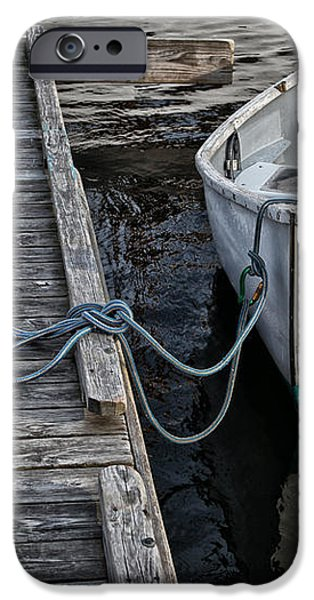Left at the Dock iPhone Case by Karol  Livote