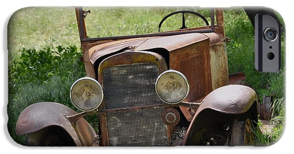 Old Cars iPhone Cases - Left to Die iPhone Case by Debby Pueschel