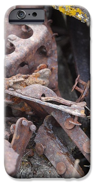 Antiques iPhone Cases - Leftover Bits iPhone Case by Jenessa Rahn