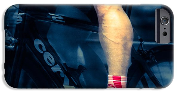 Male Athlete iPhone Cases - Leg Accelerator  iPhone Case by Steven  Digman