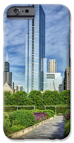 Willis Tower iPhone Cases - Legacy at Millenium Park iPhone Case by Matt Hammerstein