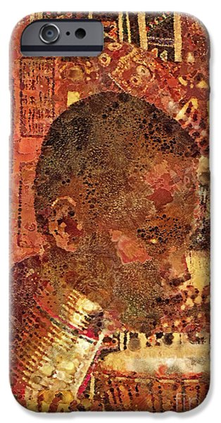 Fabric Mixed Media iPhone Cases - Legacy iPhone Case by Mo T