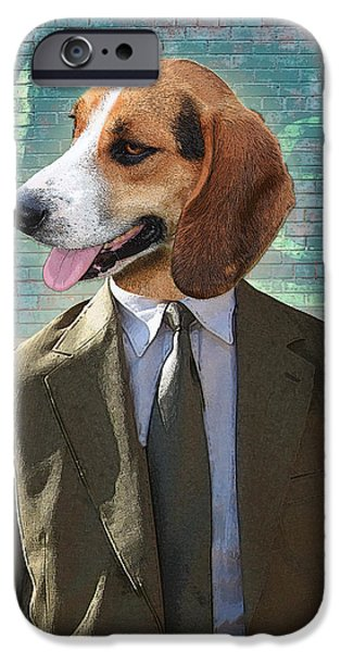 Detectives iPhone Cases - Legal Beagle iPhone Case by Nikki Smith