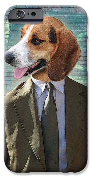 Detective iPhone Cases - Legal Beagle iPhone Case by Nikki Smith